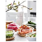 IKEA IKEA 365+ (003.592.06) Харчовий контейнер, квадратна форма/скло 600 мл, фото 3