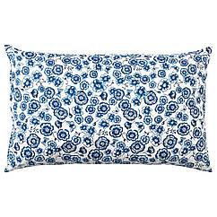 IKEA SÅNGLÄRKA ( 004.269.89) Подушка , квітка/синій білий 65x40 см