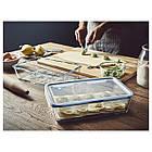 IKEA 365+ (192.767.77) Харчовий контейнер із кришкою, прямокутний/скло пластик 3.1 л, фото 2