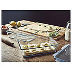 IKEA 365+ (192.767.77) Харчовий контейнер із кришкою, прямокутний/скло пластик 3.1 л, фото 3