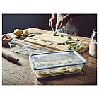 IKEA 365+ (192.767.77) Харчовий контейнер із кришкою, прямокутний/скло пластик 3.1 л, фото 4