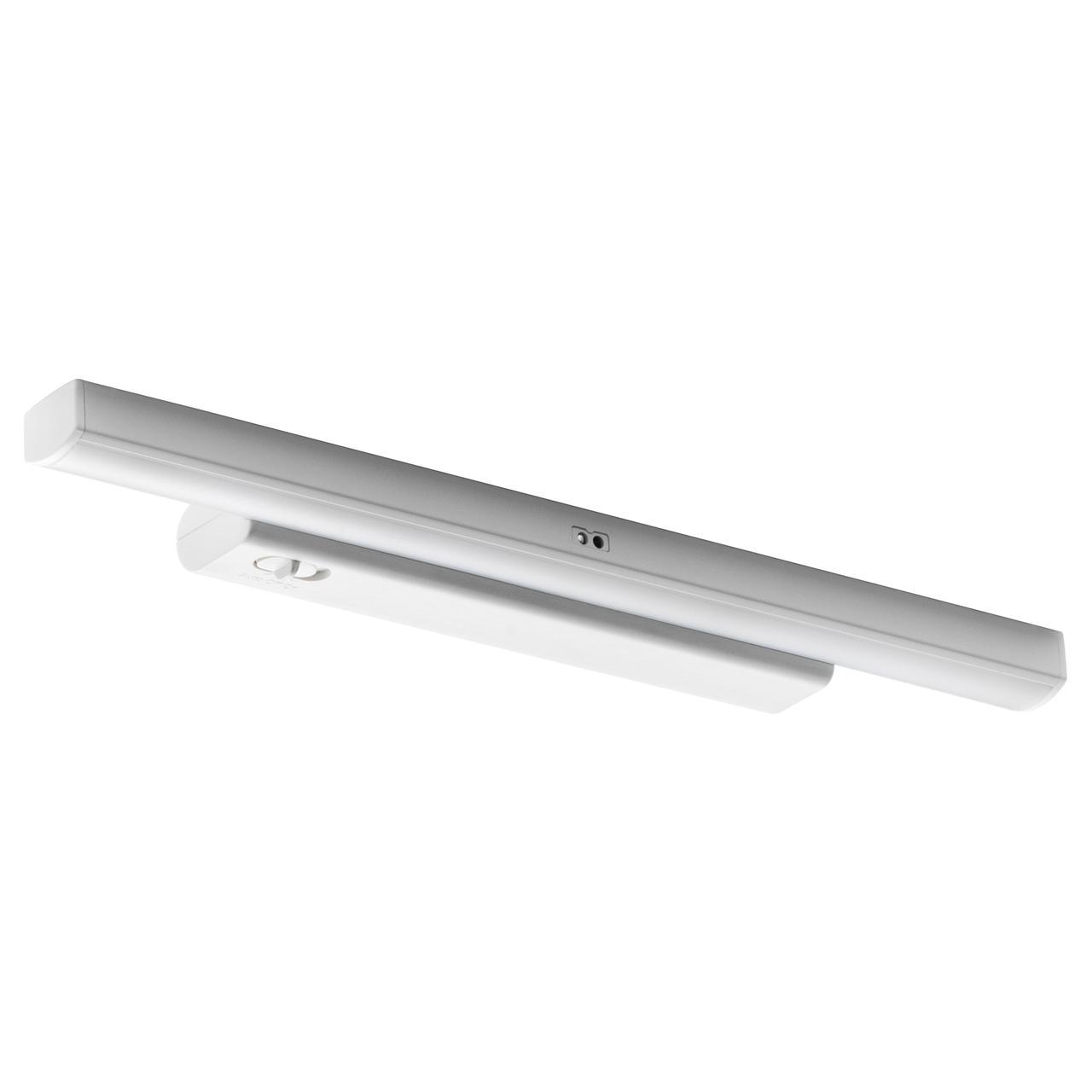 IKEA STÖTTA ( 103.600.87) LED підсвітка для шафи/сенсор, на батерейках білий 32 см