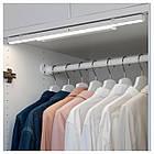 IKEA STÖTTA ( 103.600.87) LED підсвітка для шафи/сенсор, на батерейках білий 32 см, фото 3