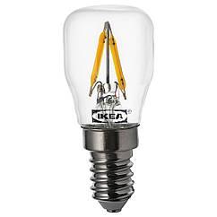 IKEA RYET (104.163.91) LED лампа грушоподібна E14 80лм, прозорий