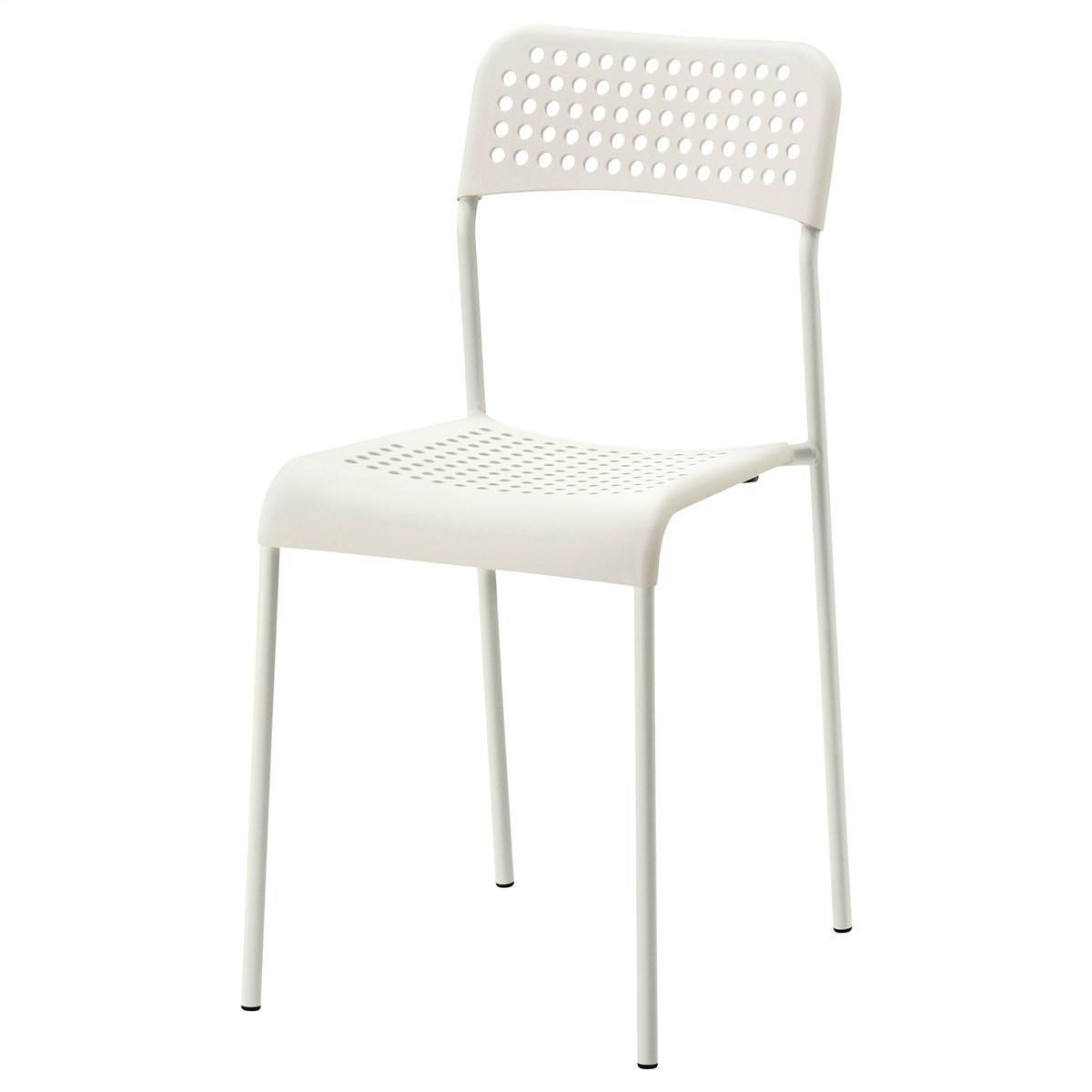 IKEA ADDE (102.191.78) Стілець , білий