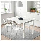 IKEA ADDE (102.191.78) Стілець , білий, фото 6