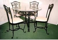 Кованый набор столовой мебели