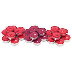 IKEA SINNLIG ( 003.373.80) Свічка-таблетка ароматична, Червоні садові ягоди/червоний
