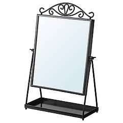 IKEA KARMSUND (002.949.79)  Дзеркало настільне, чорний 27x43 см
