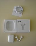 Бездротові навушники i10 TWS Оригінал mini аирподс блютус в стилі аерпоц + Бездротова зарядка в ПОДАРУНОК, фото 4