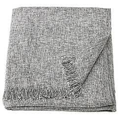 IKEA INGRUN (204.093.90) Плед, сірий 130x170 см