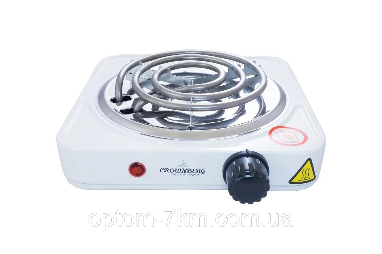 Плита электрическая Crownberg CB-3740 со спиральными тэнами 1000Вт am