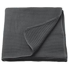 IKEA VÅRELD (003.464.45) Покривало, темно-сірий 150x250 см