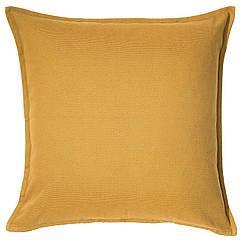 IKEA GURLI (203.958.21) Чохол для подушки , золотаво-жовтий 50x50 см