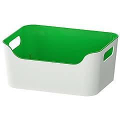 IKEA  VARIERA (104.710.47)  Коробка, зелений 24x17 см