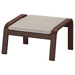 IKEA POANG (092.446.83)Підставка для ніг, коричневий/КНІСА світло-бежевий