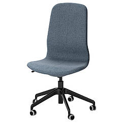 IKEA LANGFJALL (891.776.65) Рабочий стул, Gunnared светло-розовый, белый