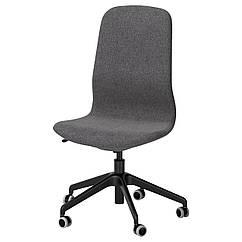 IKEA LANGFJALL (791.776.42) Рабочий стул, Gunnared светло-розовый, черный
