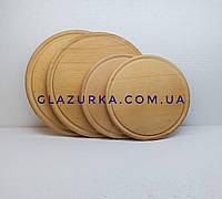 Доска деревянная разделочная круглая 35 см бук
