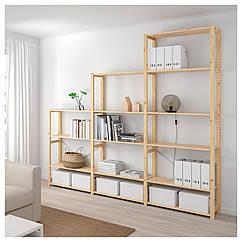 IKEA  IVAR ( 592.483.77) 3 секції/полиці 259x30x226 см