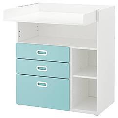 IKEA STUVA / FRITIDS (792.531.60) Пеленальный стол с ящиками, белый