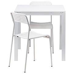 IKEA MELLTORP / ADDE (490.117.66)Стіл+2 стільці 75 см