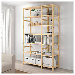 IKEA  IVAR ( 292.483.45) 4 секції/полиці/шафа 344x30x226 см