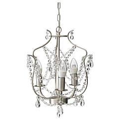 IKEA KRISTALLER (800.894.61) Подвесная лампа, 3 оружия, серебро, стекло