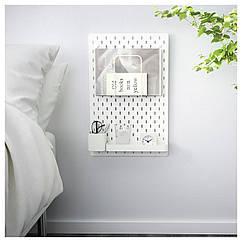 IKEA SKADIS (192.166.94) Комбінація перфорованої дошки, білий 36x56 см