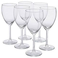 IKEA SVALKA (000.151.34) Бокал для белого вина, прозрачное стекло 250 мл (6 шт)