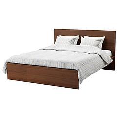 IKEA MALM (791.312.63) Кровать, высокий, белый витраж, Luroy