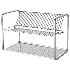 IKEA ORDNING (100.181.94) Сушарка для посуду, нержавіюча сталь 50x27x36 см