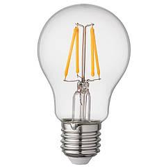 IKEA RYET ( 004.468.69) LED лампа E27 470 лм, кругла прозорий