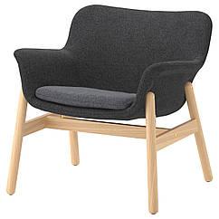 IKEA VEDBO (103.421.02)  Крісло, ГУННАРЕД темно-сірий