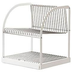 IKEA BESTAENDE (902.339.67) Сушилка посудная, серебристая, белая