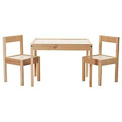 IKEA LATT (501.784.11) Дитячий стіл з 2 стільцями