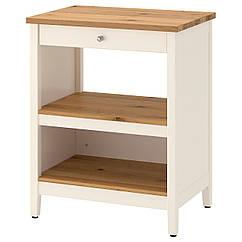 IKEA TORNVIKEN  (003.933.71) Кухонний острівець, кремово-білий/дуб 72x52 см
