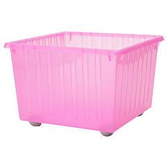 IKEA  VESSLA (100.992.89) Коробка на коліщатах, світло-рожевий 39x39 см