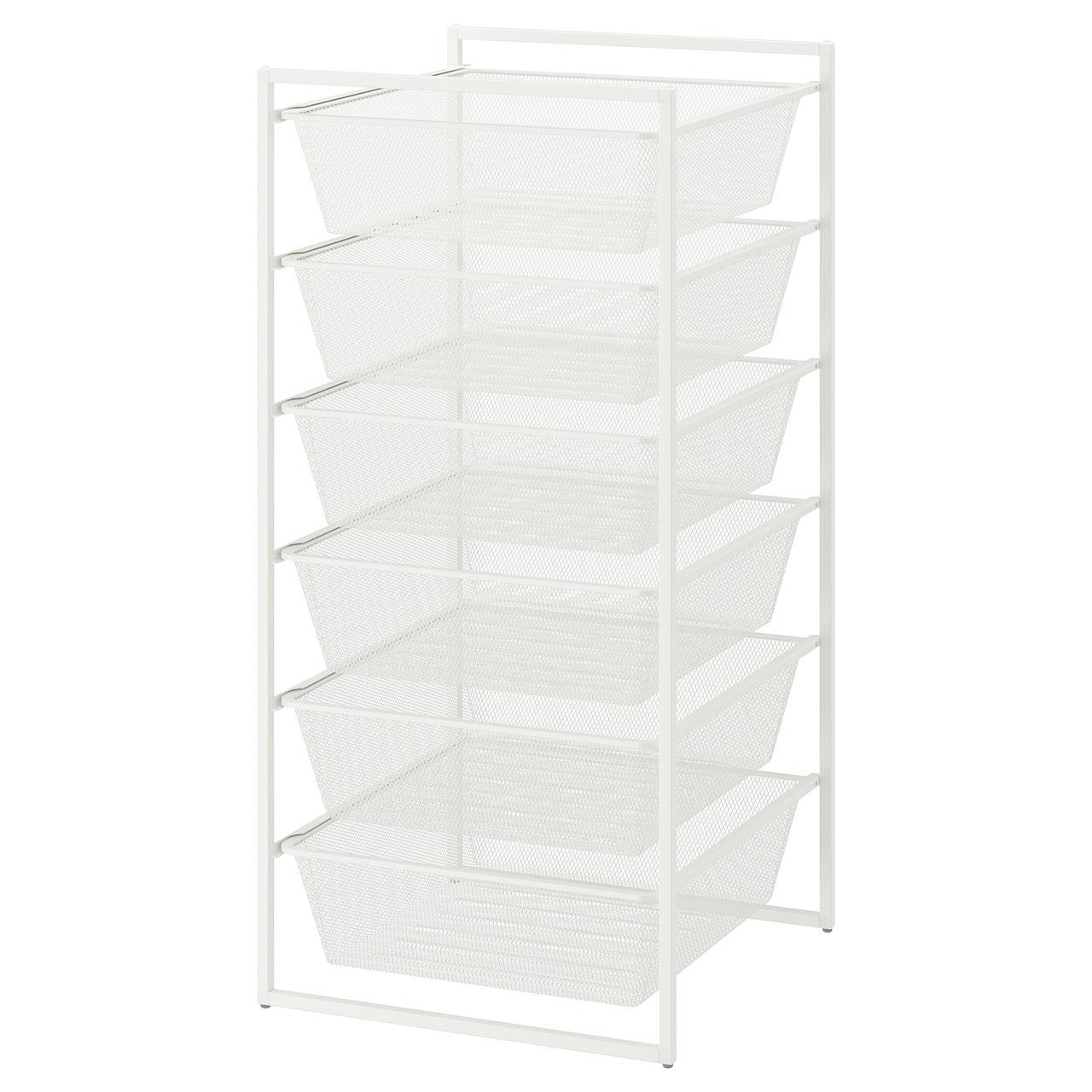 IKEA JONAXEL ( 092.974.88) Каркас з сітчастими кошиками, білий 50x51x104 см