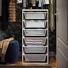 IKEA JONAXEL ( 092.974.88) Каркас з сітчастими кошиками, білий 50x51x104 см, фото 4