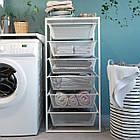 IKEA JONAXEL ( 092.974.88) Каркас з сітчастими кошиками, білий 50x51x104 см, фото 5