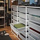 IKEA JONAXEL ( 092.974.88) Каркас з сітчастими кошиками, білий 50x51x104 см, фото 6