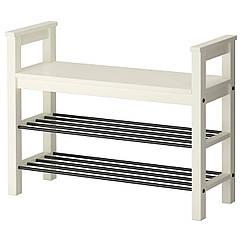 IKEA HEMNES (002.438.00) Лавка з відділенням д/зберіг взуття, білий 85x32 см