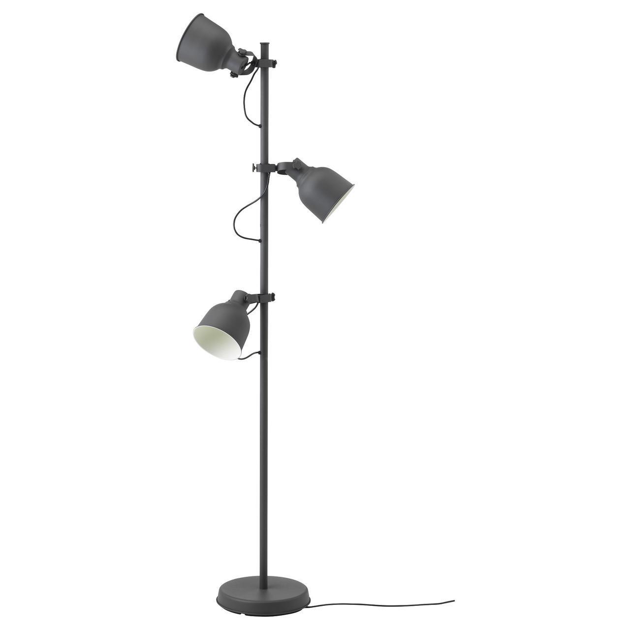 IKEA HEKTAR (203.936.00) Торшер із 3 лампами, темно-сірий