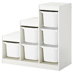 IKEA TROFAST (290.428.77) Комбінація для зберіган +контейнери 99x44x94 см