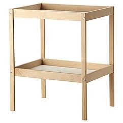 IKEA SNIGLAR (200.452.05) Пеленальний стіл, бук/білий 72x53 см