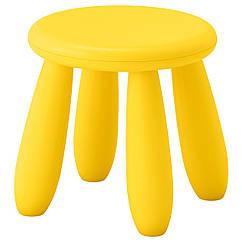IKEA MAMMUT (203.823.24) Дитячий табурет, для приміщення/вулиці/жовтий