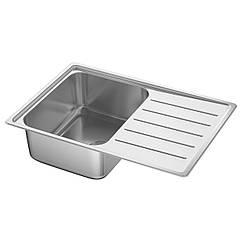 IKEA VATTUDALEN (691.581.68) Одинарна врізна мийка з сушаркою 69x47 см