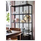 IKEA  VITTSJÖ (202.133.12) Стелаж, чорно-коричневий/скло 100x175 см, фото 4