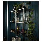 IKEA  VITTSJÖ (202.133.12) Стелаж, чорно-коричневий/скло 100x175 см, фото 5